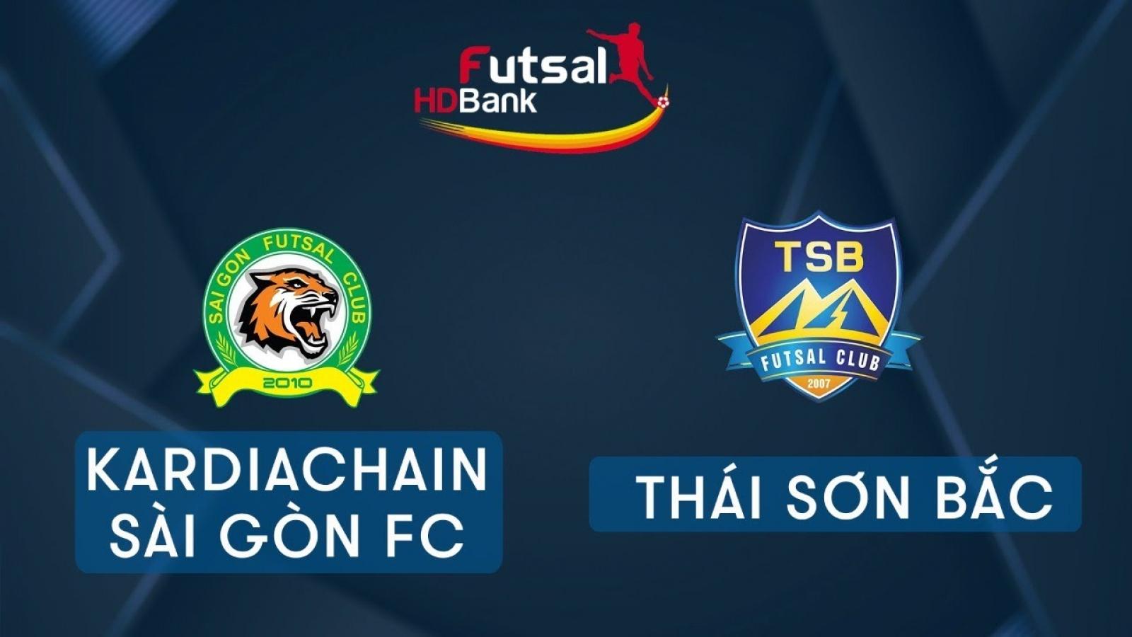 TRỰC TIẾP Kardiachain Sài Gòn vs Thái Sơn Bắc tại Giải Futsal HDBank 2020