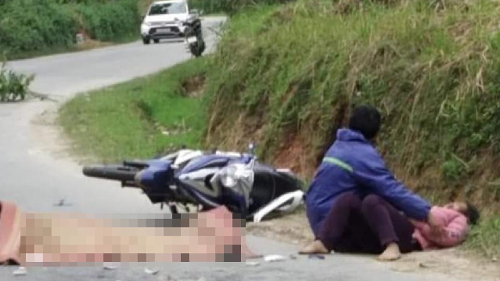 Va chạm với xe tải, chồng tử vong, vợ bị thương nặng