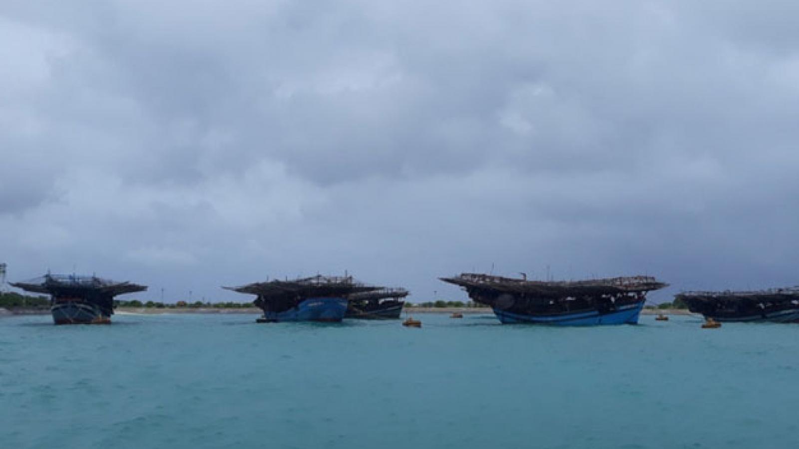 Huyện đảo Trường Sa sẵn sàng đón ngư dân vào trú bão số 9