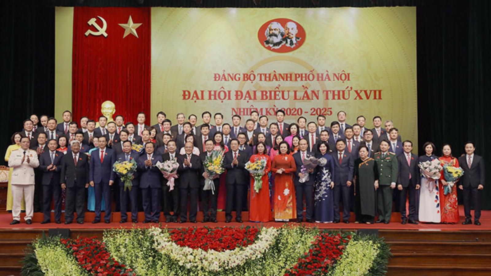 Phân công Ủy viên Ban Thường vụ Thành ủy Hà Nội khóa XVII, nhiệm kỳ 2020-2025