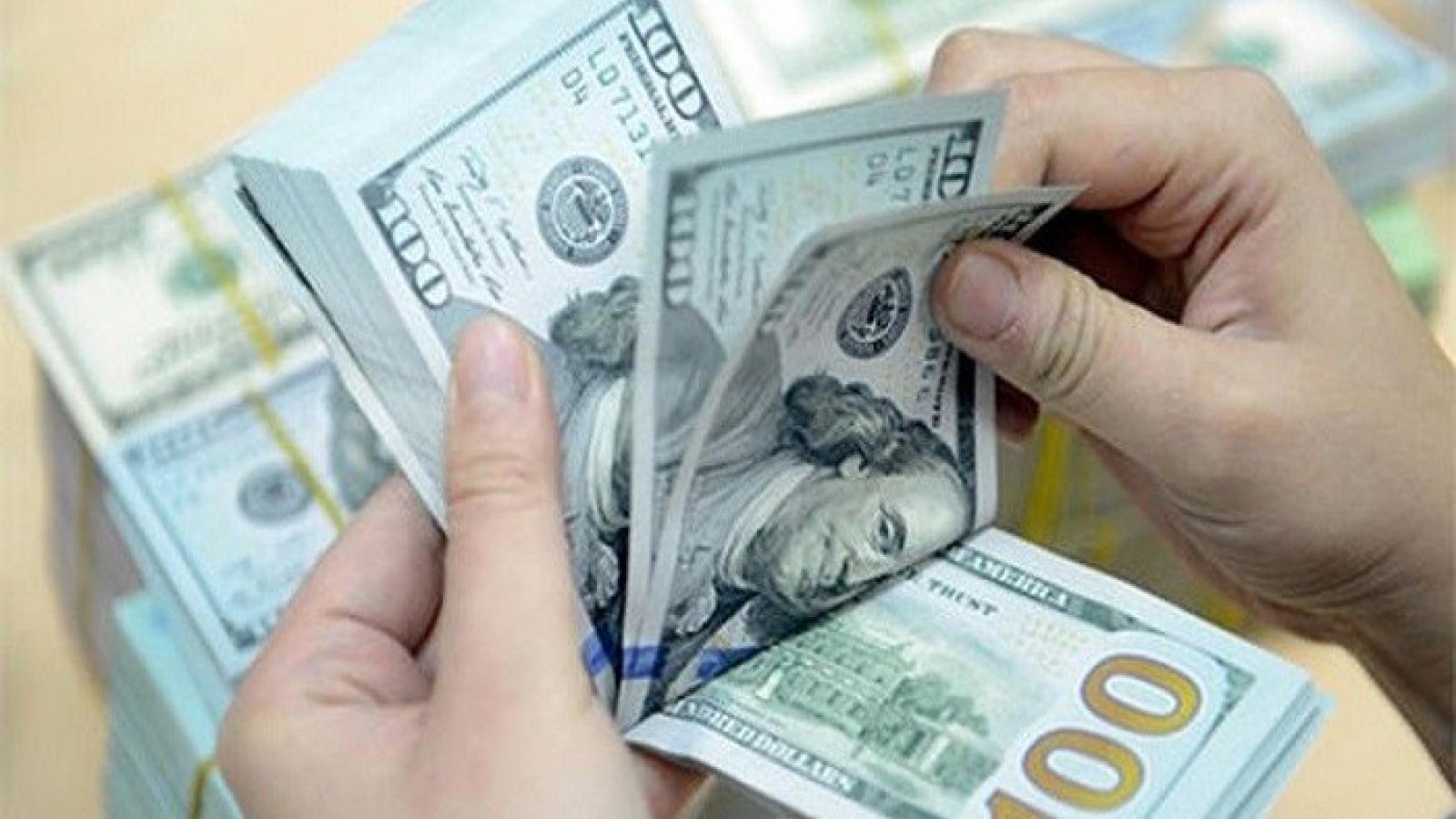 Giá USD tại các ngân hàng thương mại tiếp tục giảm