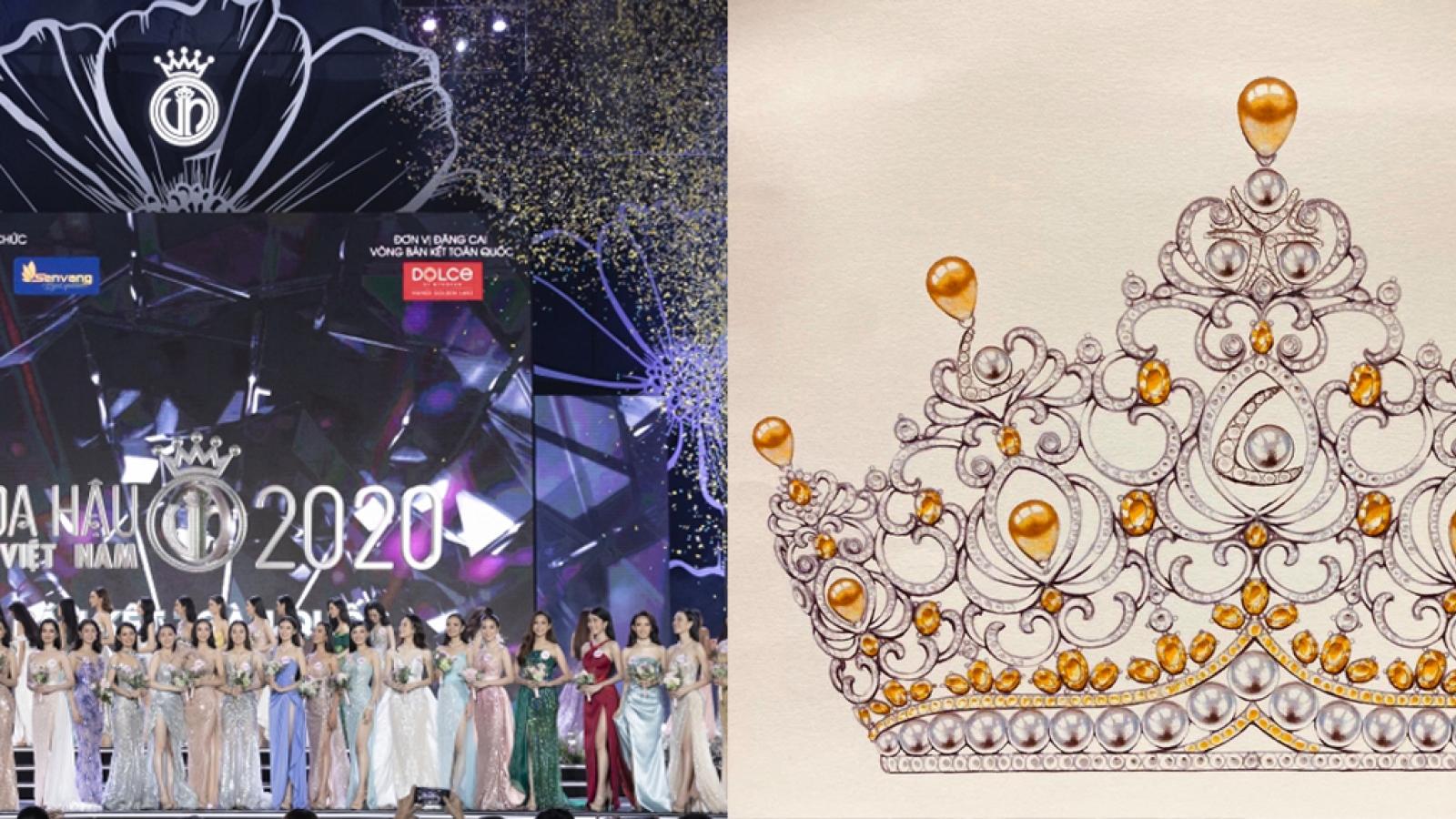 Hé lộ hình ảnh vương miện Hoa hậu Việt Nam 2020