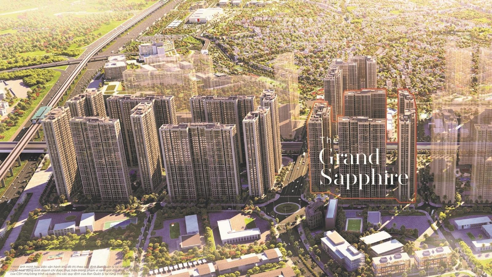 """Sức hút từ """"tọa độ hoàng kim"""" của toà căn hộ Grand Sapphire 2 Vinhomes Smart City"""