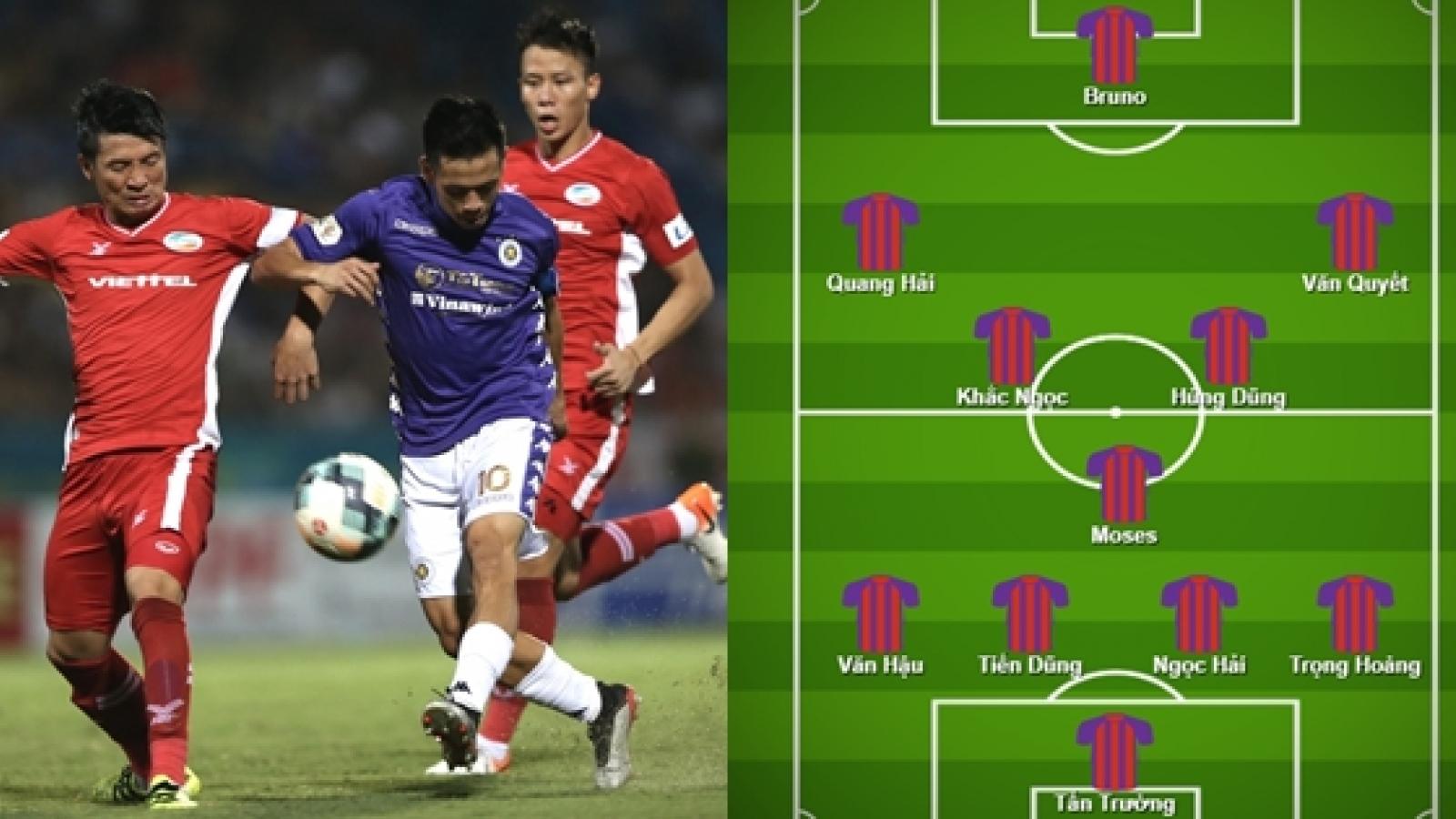 Đội hình kết hợp trong mơ giữa Viettel và Hà Nội FC