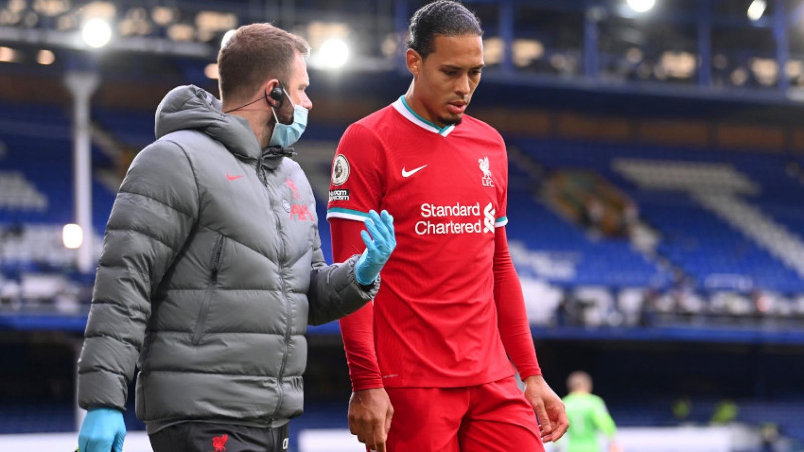 Virgil van Dijk chấn thương nặng, có thể nghỉ thi đấu 8 tháng