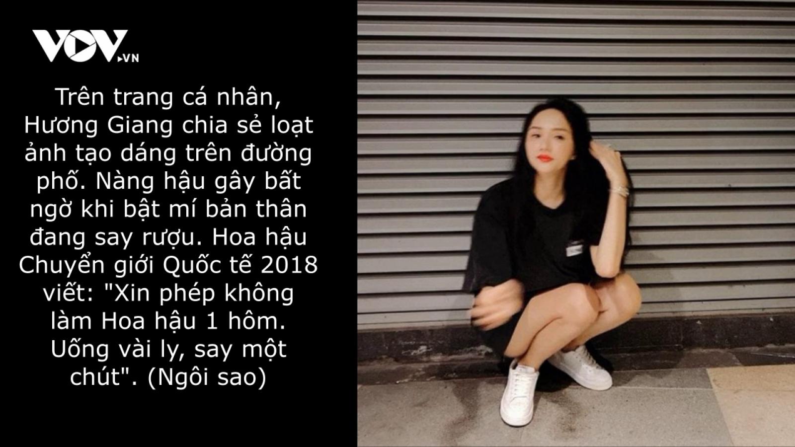 """Chuyện showbiz: Hương Giang """"xin phép"""" không làm Hoa hậu một hôm"""