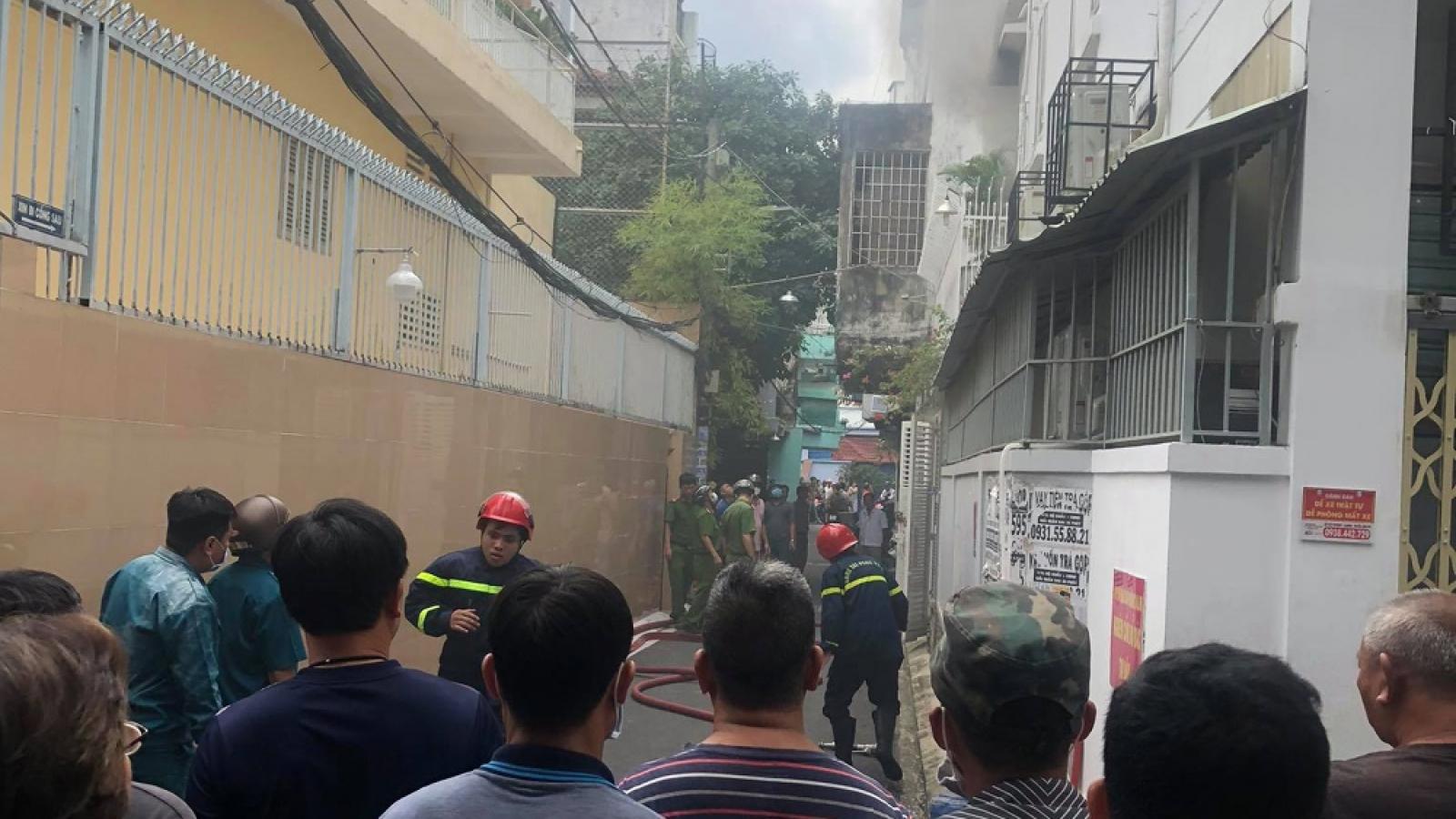 Cháy căn nhà trong hẻm ở TPHCM, một phụ nữ tử vong