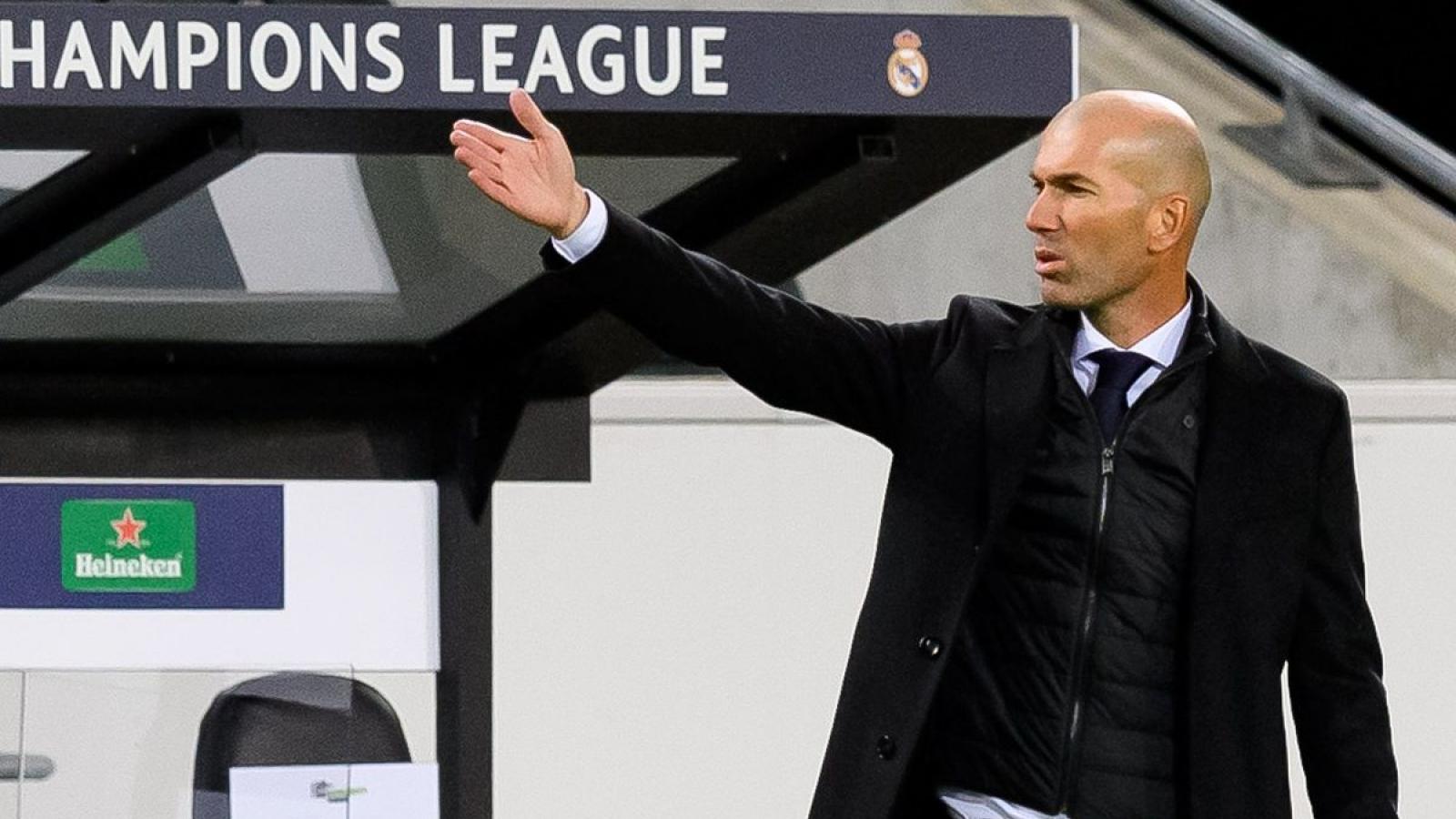 Zidane phát ngôn mạnh miệng dù Real Madrid đứng cuối bảng B Champions League