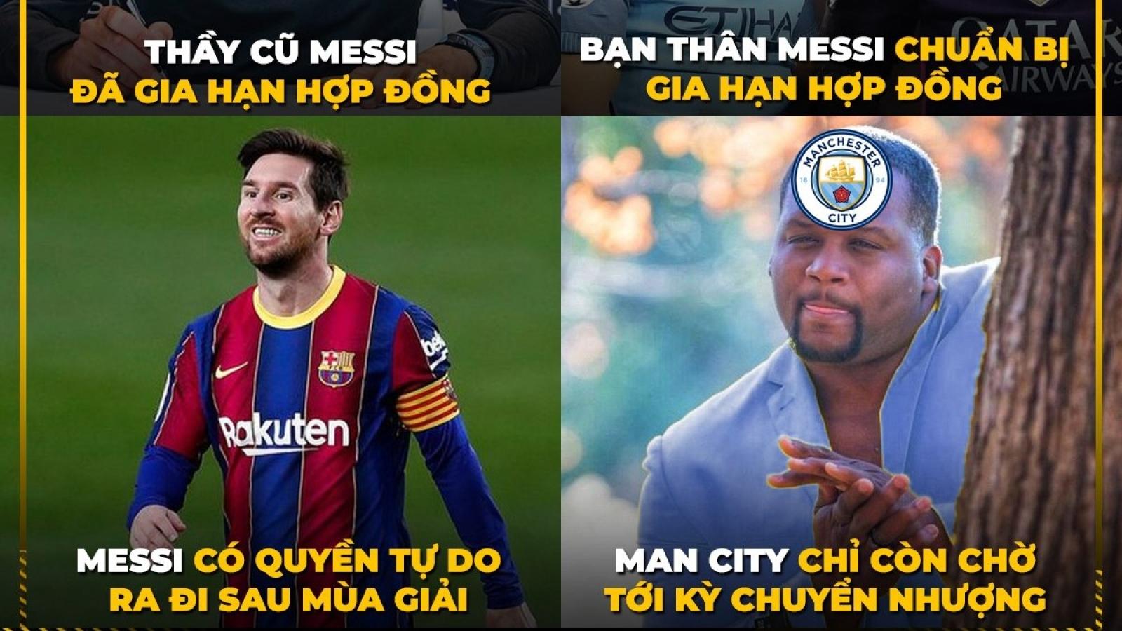 Biếm họa 24h: Guardiola háo hức chờ Messi đến Man City