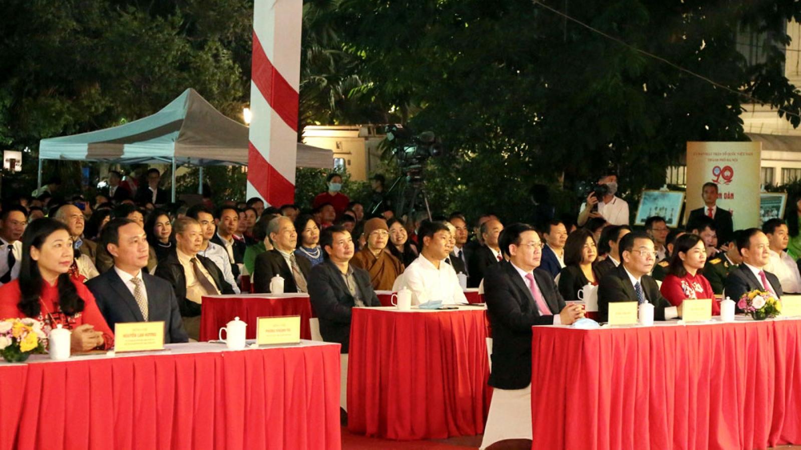 Ông Vương Đình Huệ dự Lễ kỷ niệm 90 năm ngày truyền thống Mặt trận Tổ quốc Việt Nam