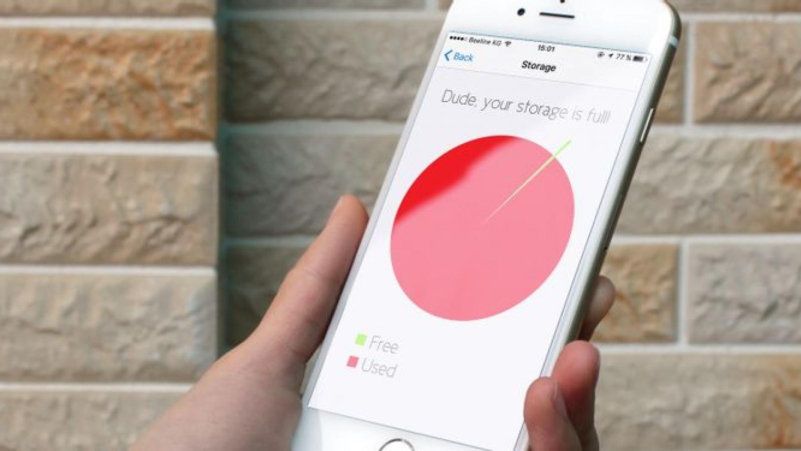"""Mẹo nhỏ giúp """"giải phóng"""" bộ nhớ đầy của iPhone"""