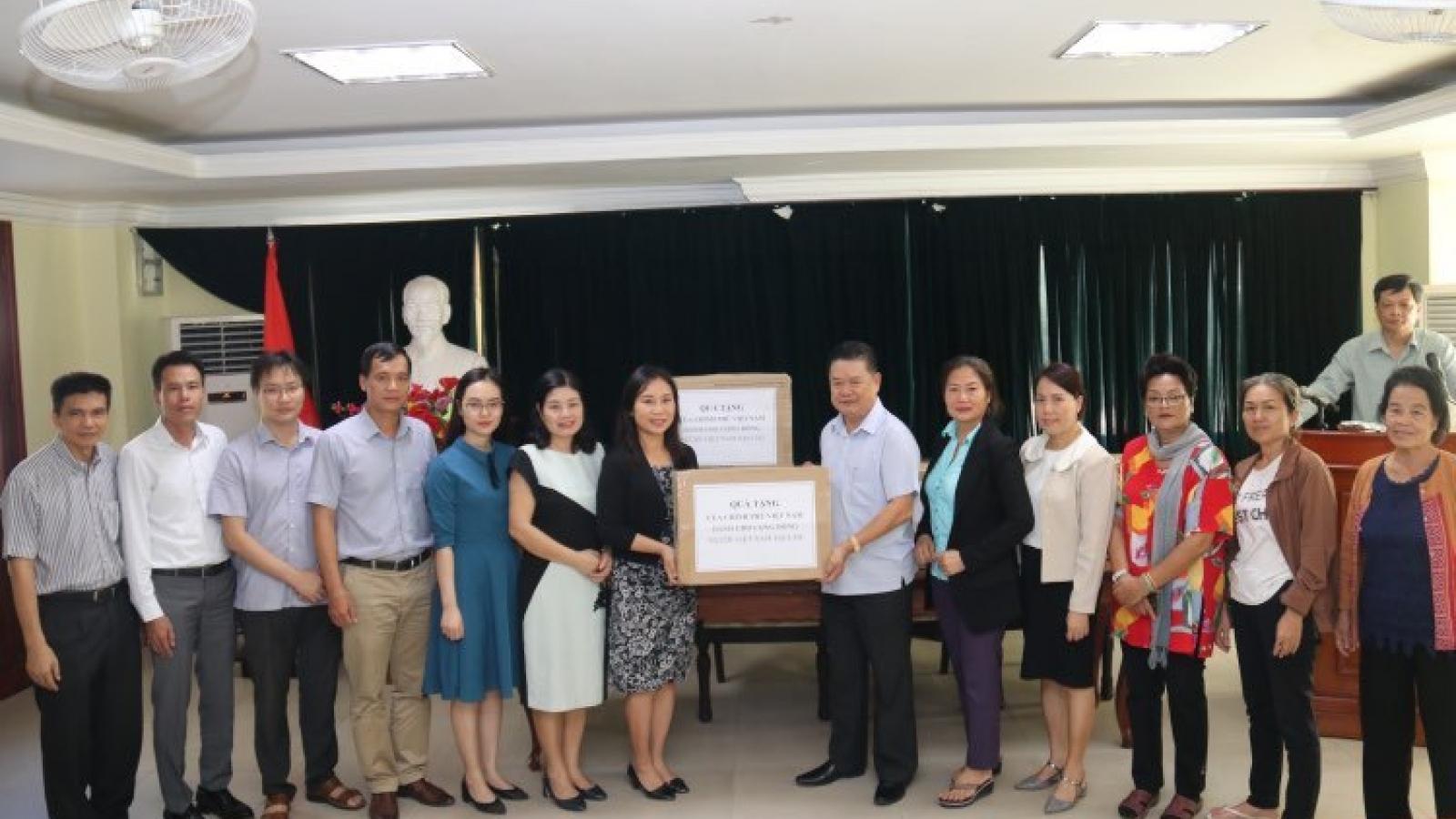 Chính phủ trao tặng khẩu trang y tế cho cộng đồng người Việt Nam tại Lào