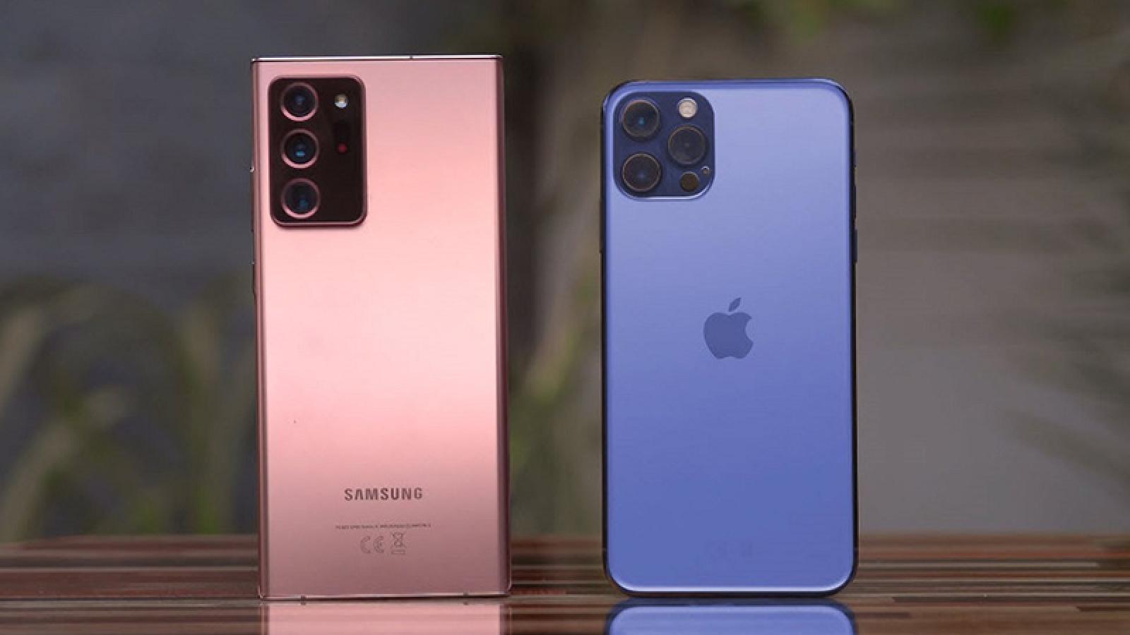 iPhone 12 đánh bại Galaxy Note20 Ultra trong phép thử đời thực