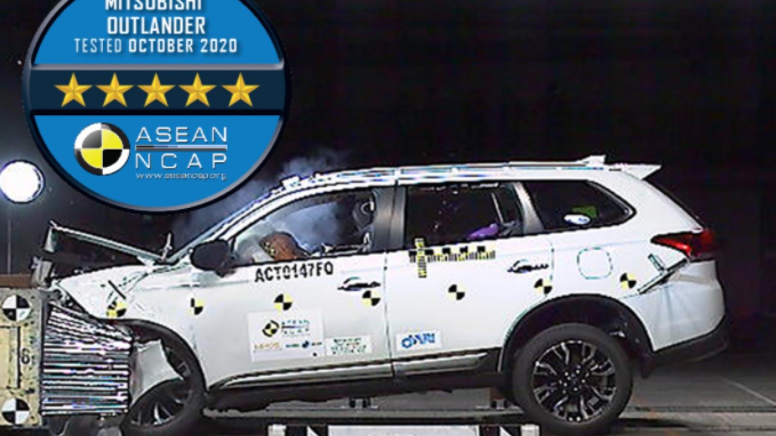 Mitsubishi Outlander lắp tại Việt Nam đạt 5 sao bài kiểm tra an toàn ASEAN NCAP