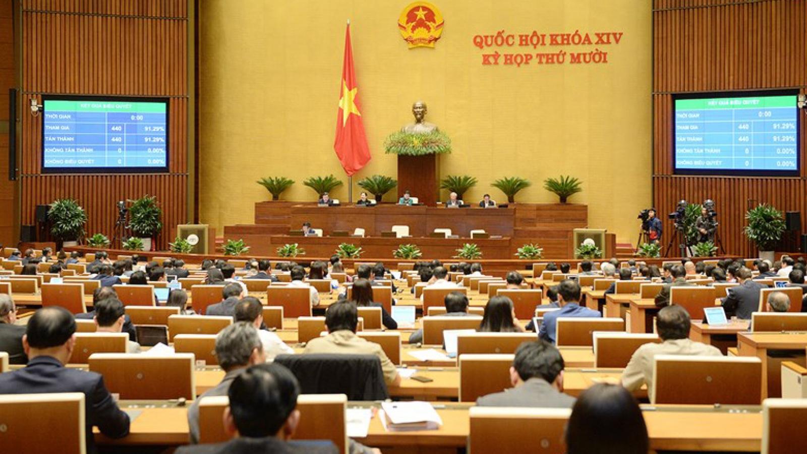 Quốc hội tán thành báo cáo của Chính phủ về nhiệm vụ kinh tế - xã hội 2021