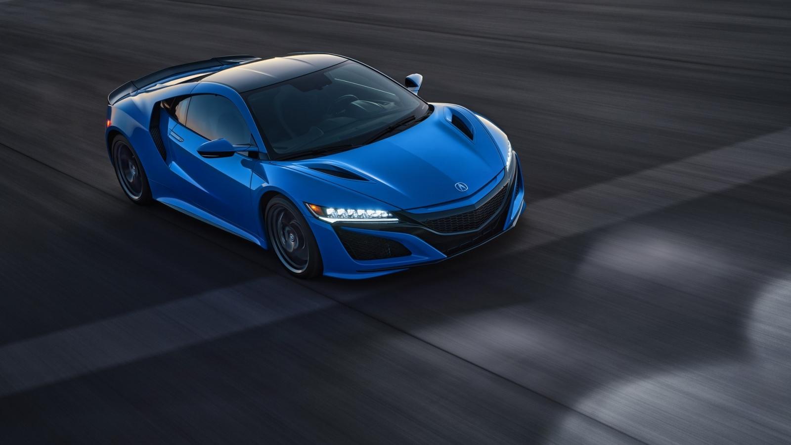 Ngắm Acura NSX 2021 với màu sơn Long Beach Blue Pearl