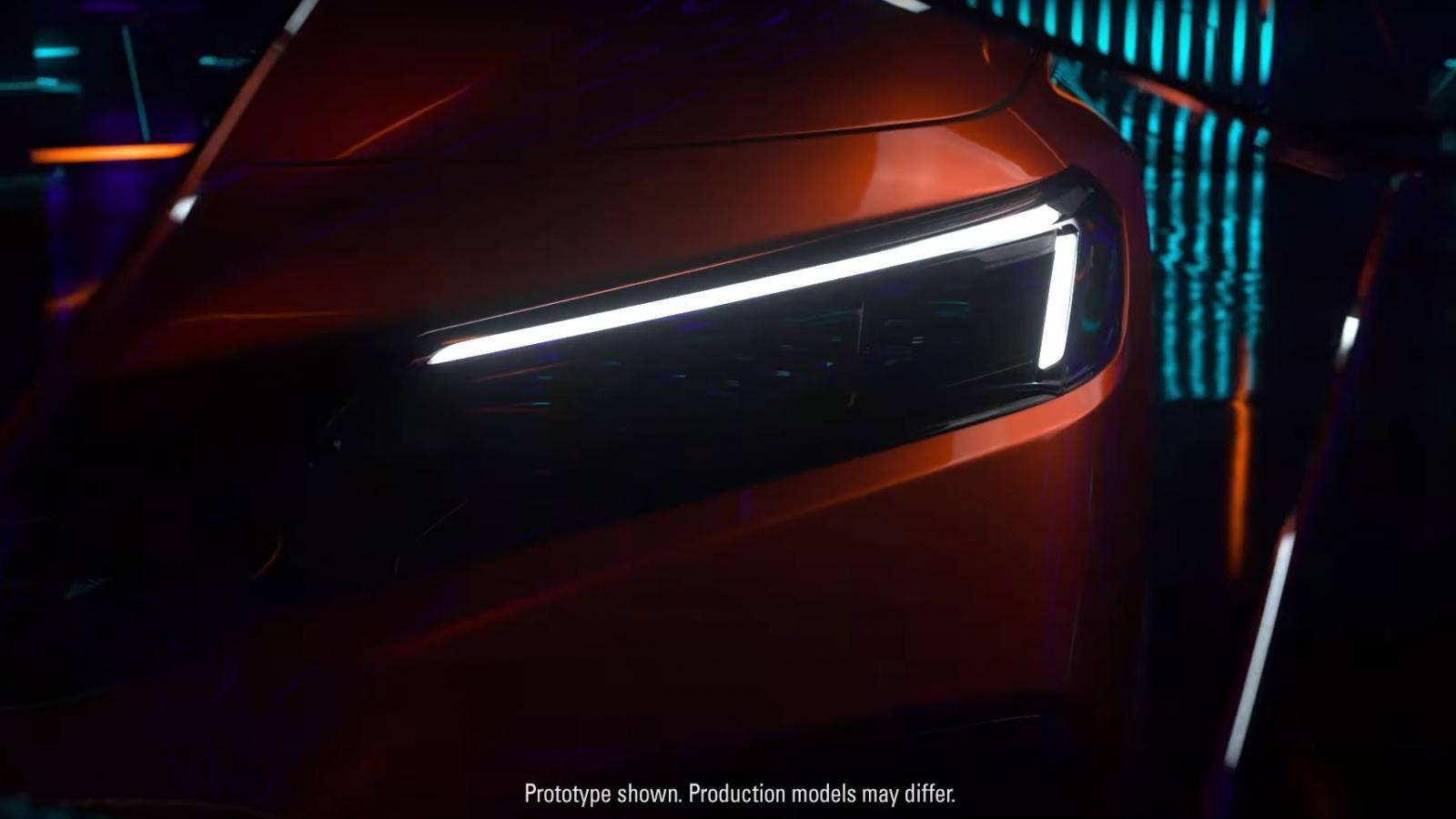 Lộ diện Honda Civic Sedan 2022 trước khi ra mắt vào tuần tới