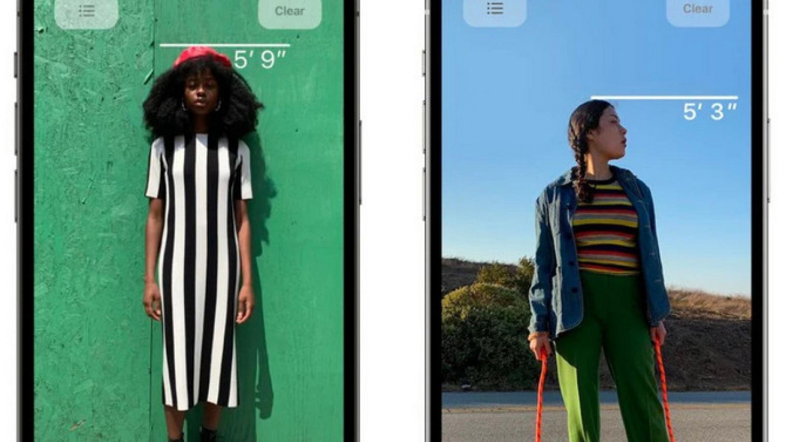 iPhone 12 có tính năng đo chiều cao con người