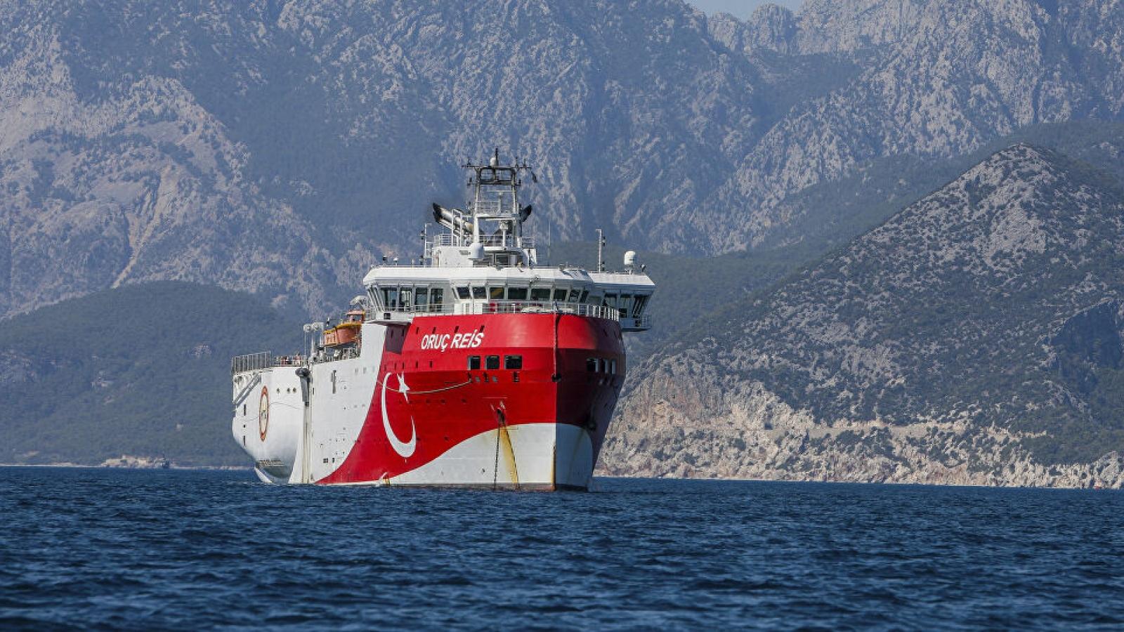 Thổ Nhĩ Kỳ tiếp tục gia hạn hoạt động thăm dò của tàu Oruc Reis tại Đông Địa Trung Hải