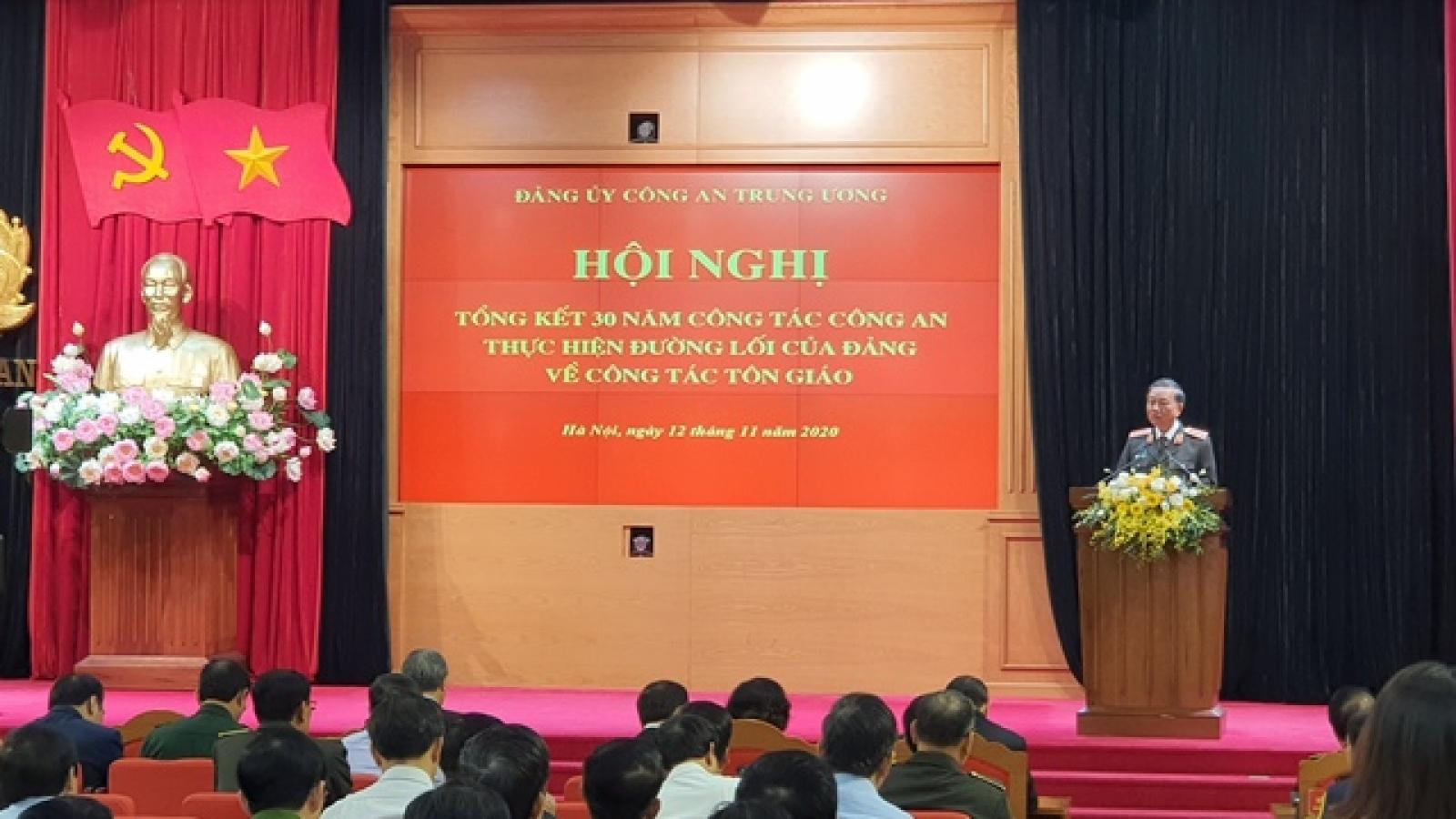 Công an chú trọng thực hiện đường lối của Đảng về công tác tôn giáo