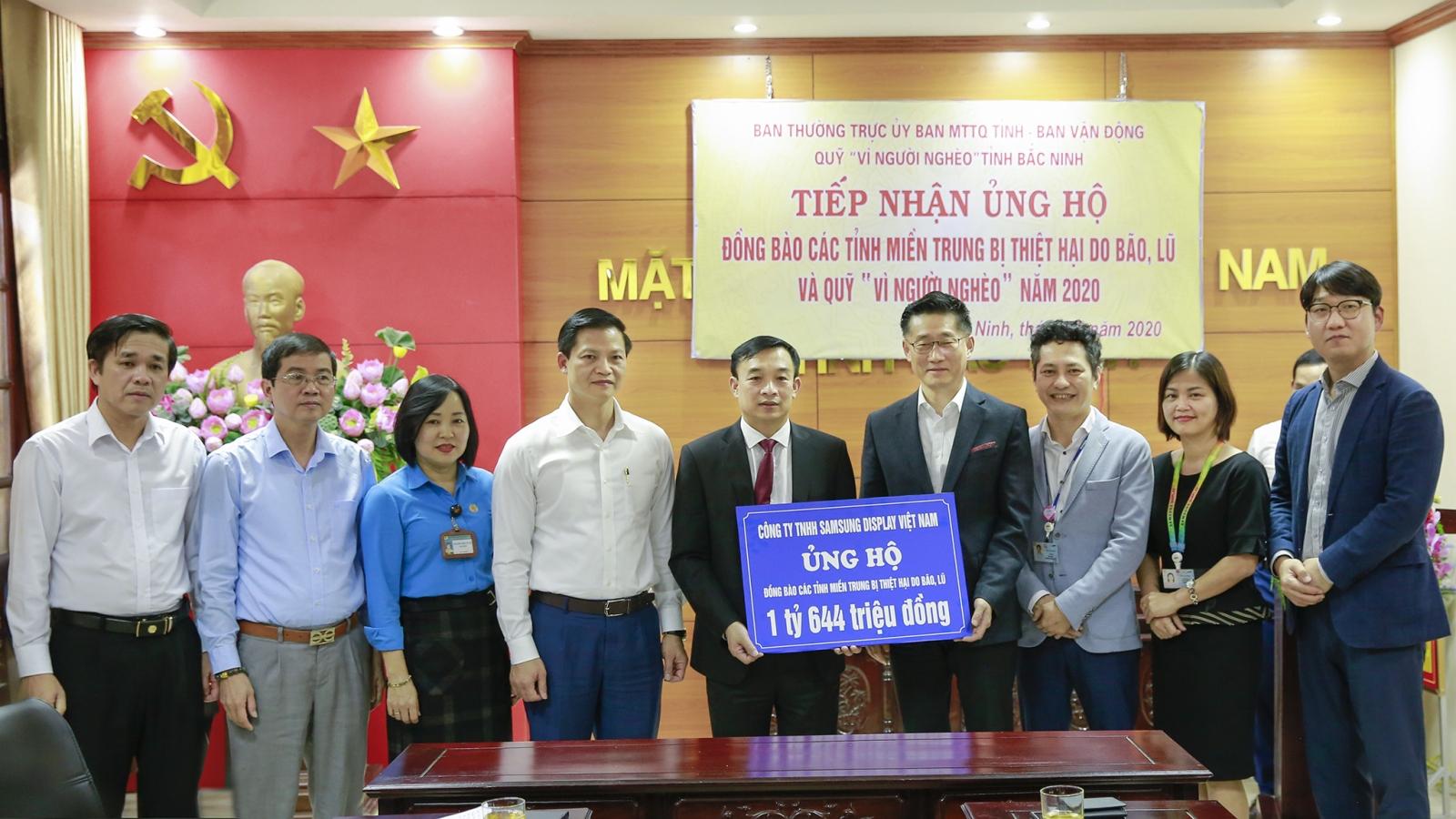 Các nhà máy và nhân viên Samsung Việt Nam ủng hộ 5 tỷ đồng cho đồng bào miền Trung