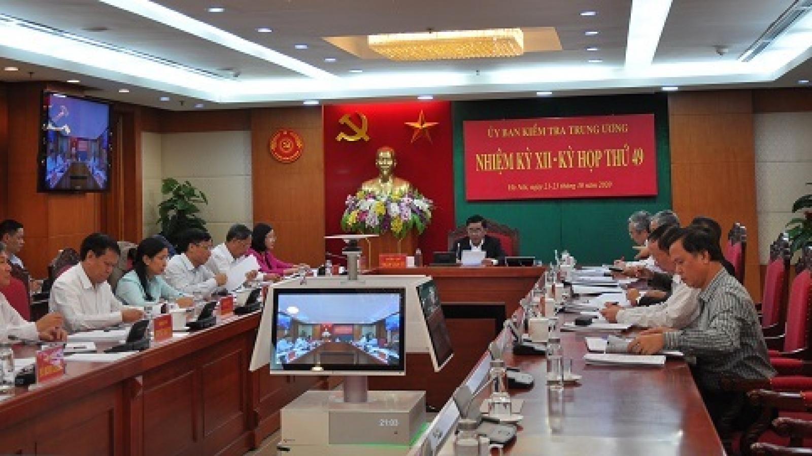 Toàn văn Thông cáo báo chí kỳ họp 49 của UBKT Trung ương