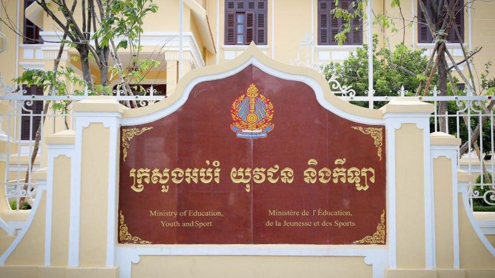 Bộ giáo dục Campuchia cho kết thúc năm học sớm vì Covid-19