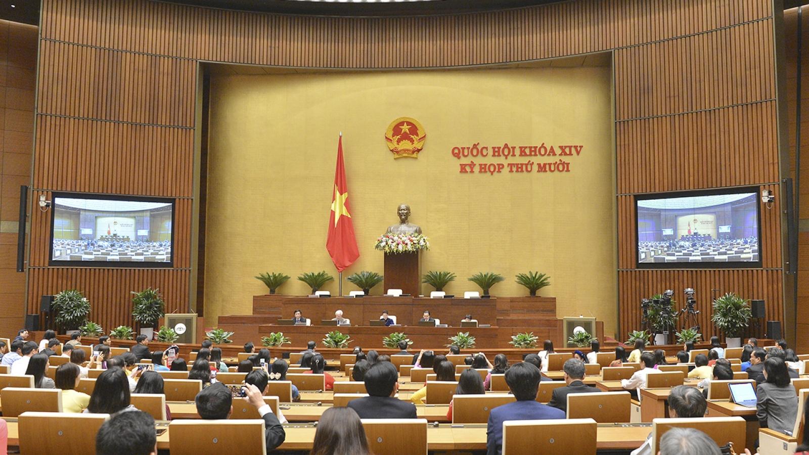 Chiều nay, Quốc hội họp phiên bế mạc Kỳ họp thứ 10