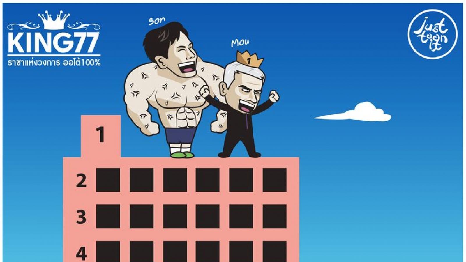 Biếm họa 24h: Son Heung-min đưa HLV Mourinho lên đỉnh Ngoại hạng Anh
