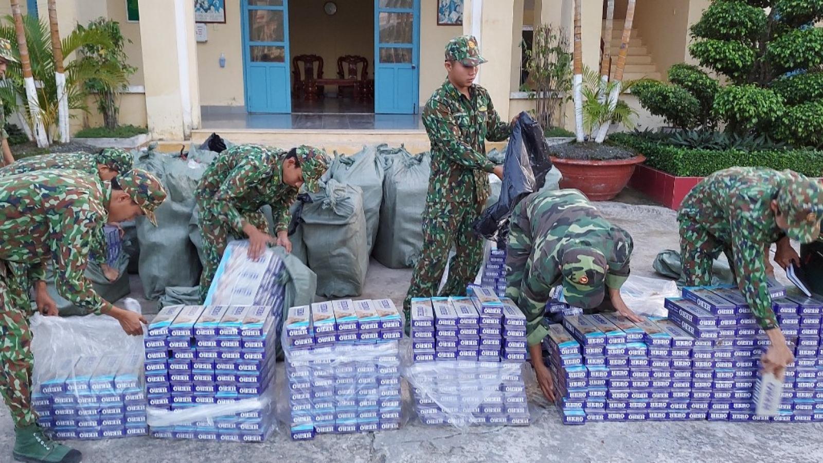 Kiên Giang: Bắt giữ hơn 21.000 gói thuốc lá vận chuyển trái phép qua biên giới