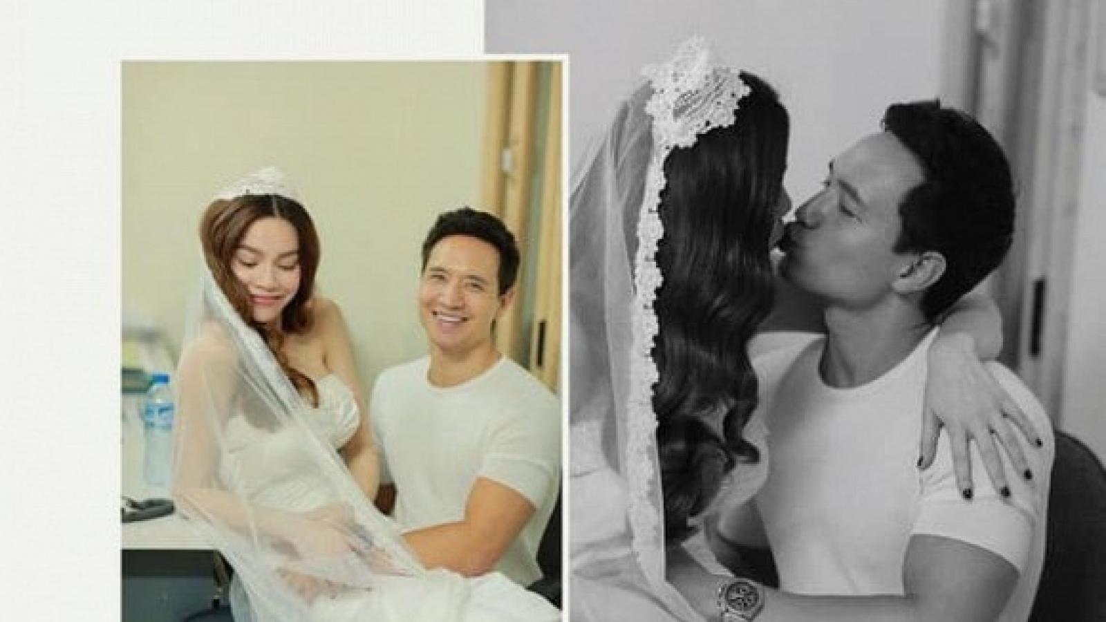 Chuyện showbiz: Hé lộ hậu trường chụp ảnh cưới ngọt ngào của Hồ Ngọc Hà và Kim Lý