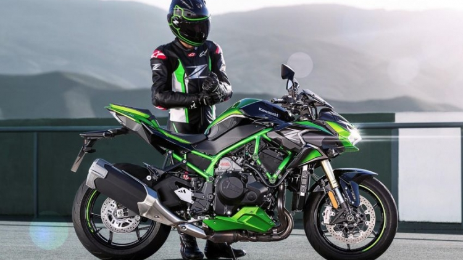 Kawasaki Z H2 SE 2021 trang bị hệ thống treo điện tử