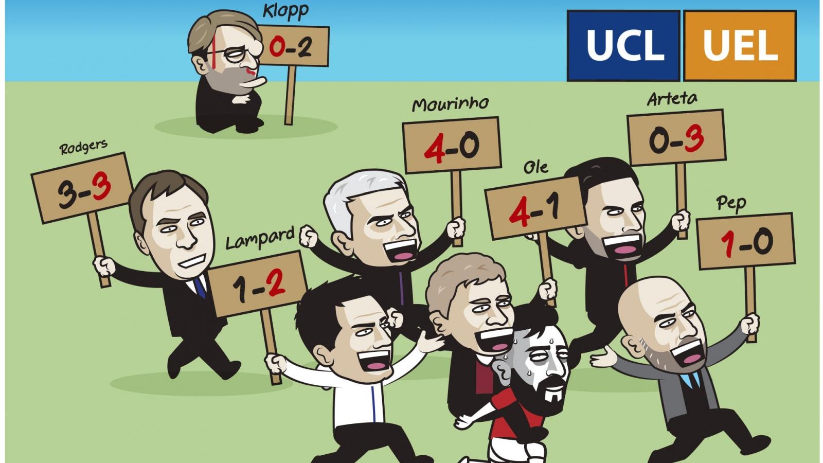 """Biếm họa 24h: Bóng đá Anh mở hội ở """"trời Âu"""""""