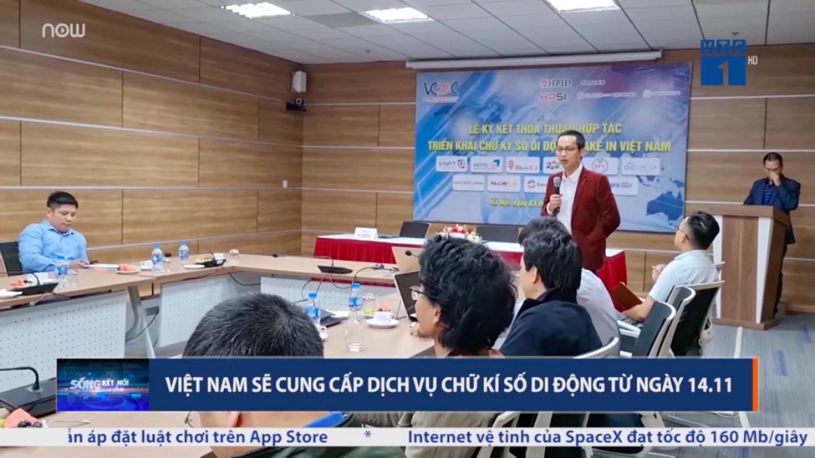 """Chữ ký số di động """"make in Vietnam"""" sẽ được cung cấp từ 14/11"""