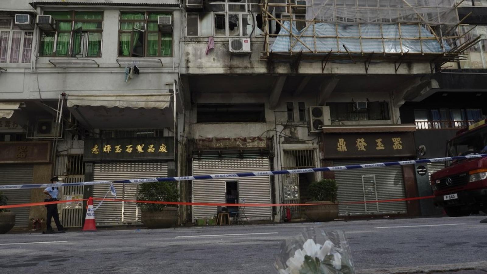 Cháy chung cư ở Hong Kong (Trung Quốc): 7 người thiệt mạng, 7 người nguy kịch