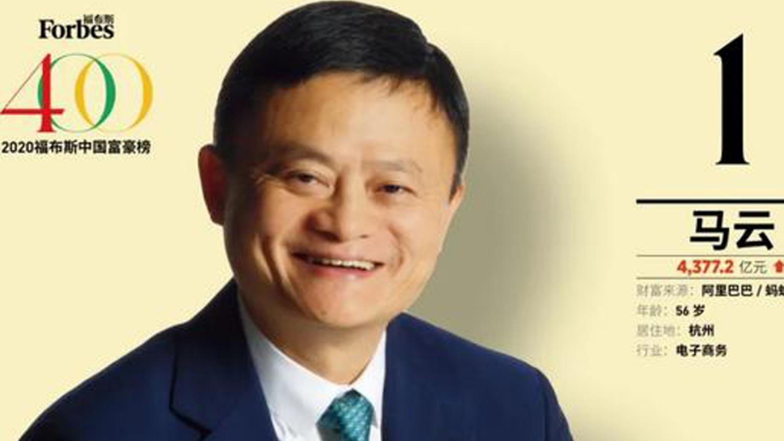 Forbes công bố bảng xếp hạng những người giàu nhất Trung Quốc
