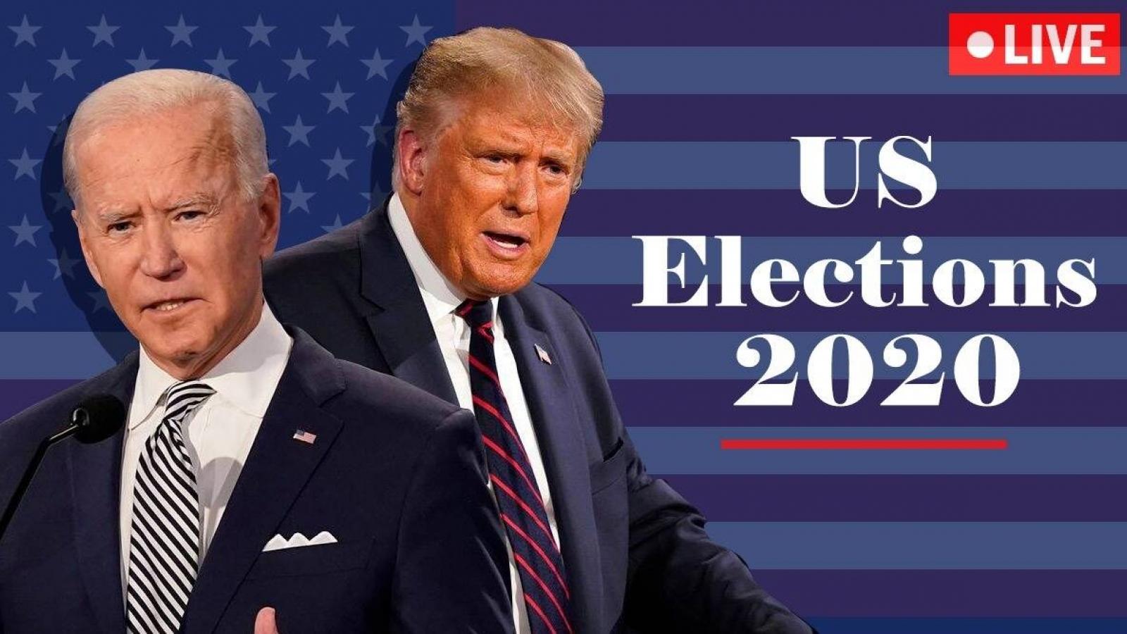 Cập nhật bầu cử Mỹ: Biden thu hẹp khoảng cách với Trump ở Georgia