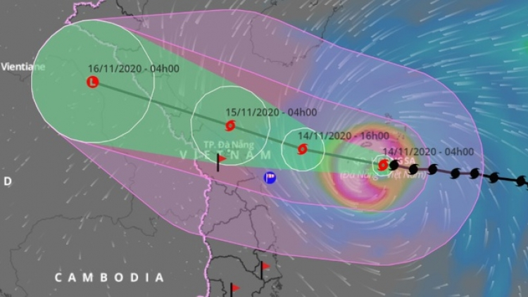 Typhoon Vamco strengthens, hits central coast early Nov. 15