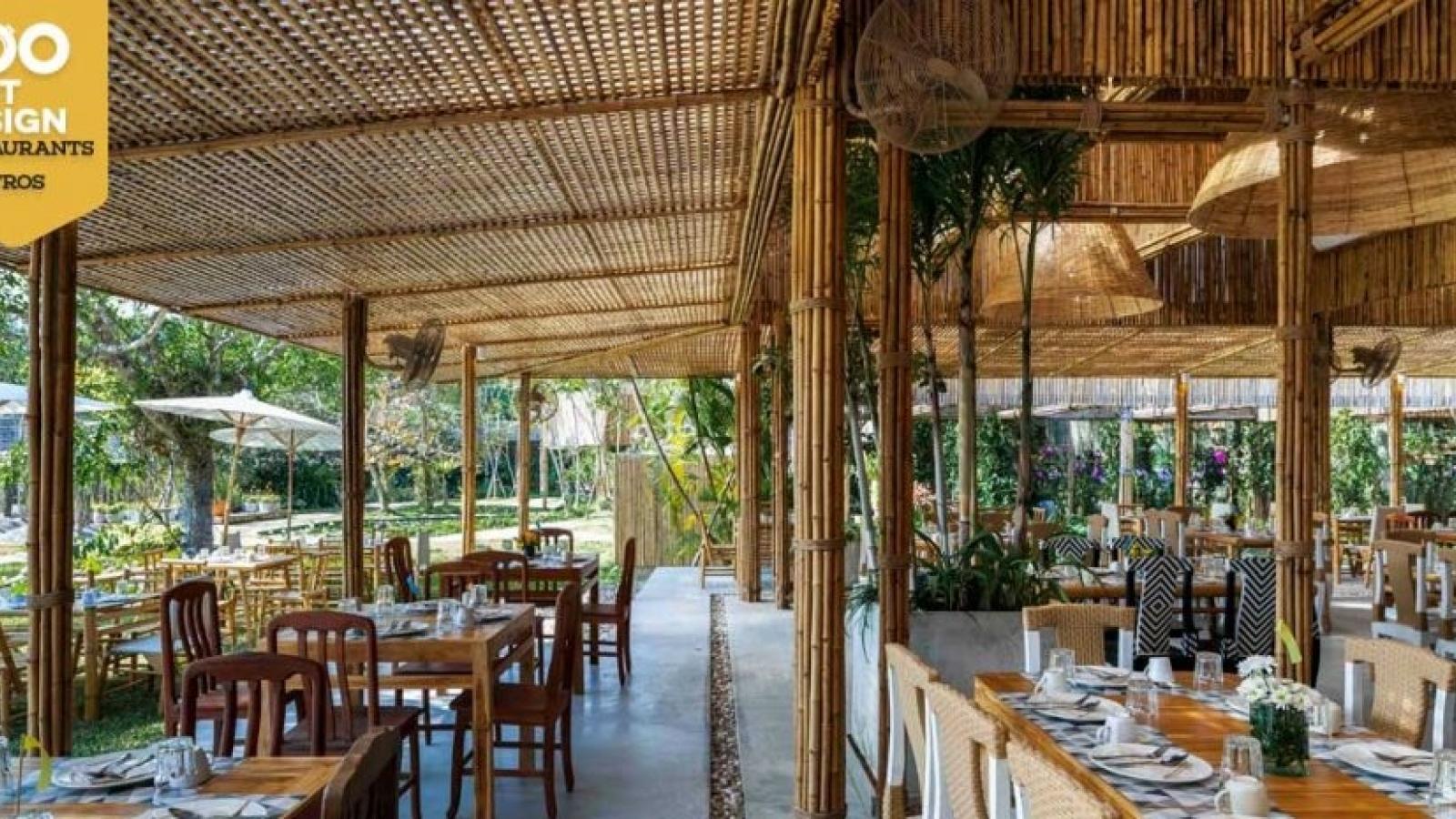 Ngắm nhà hàng trúc đặc biệt ở Thái Lan