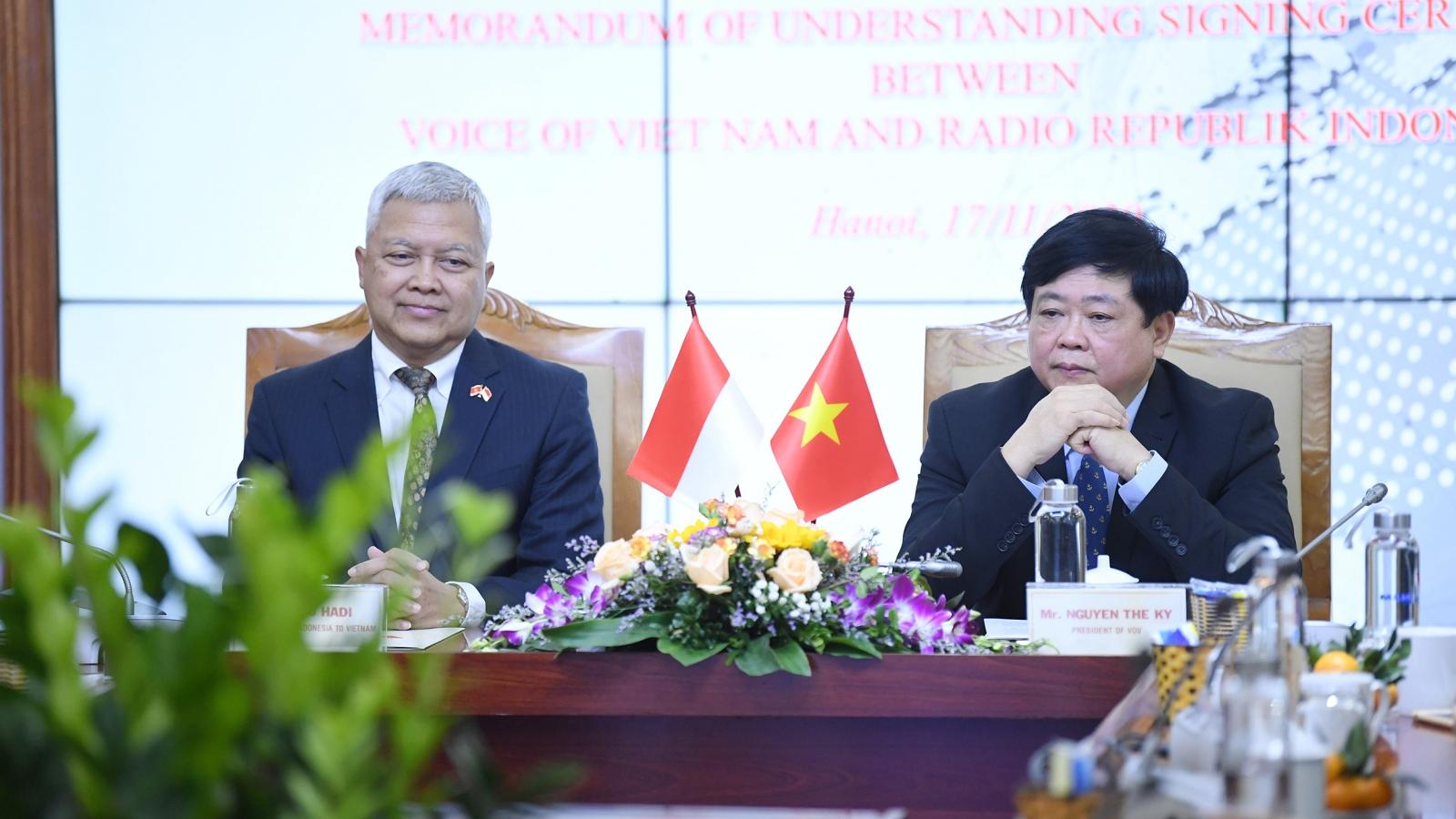 VOV và RRI ký thỏa thuận hợp tác mới, góp phần vun đắp tình hữu nghị Việt Nam - Indonesia
