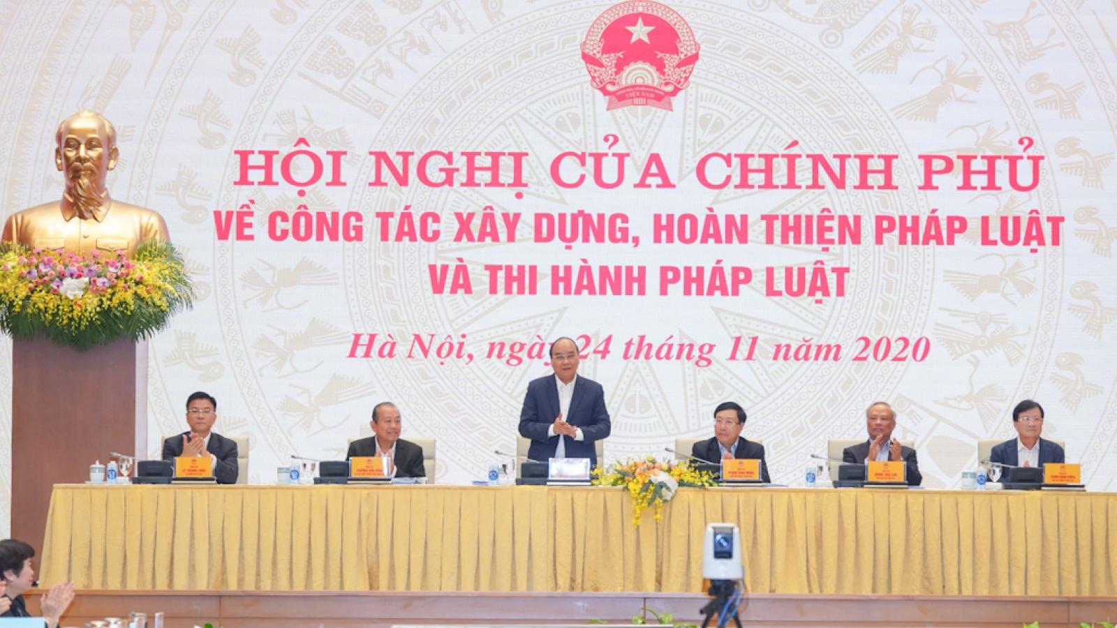 Thủ tướng: Phải chống lợi ích nhóm trong xây dựng thể chế pháp luật
