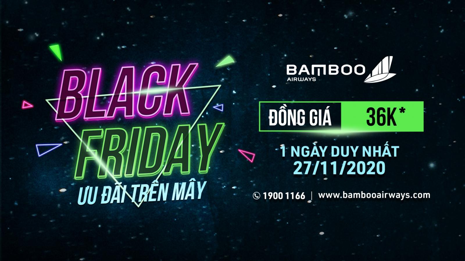 Bamboo Airways tung hàng ngàn vé giá 36.000 đồng ngày Black Friday