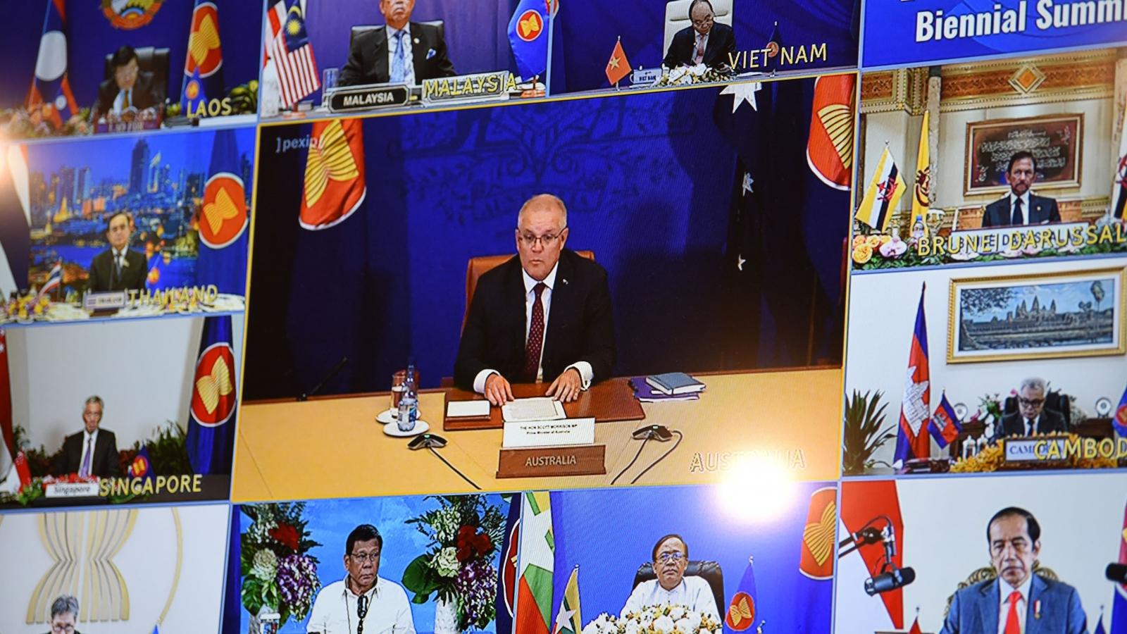 Australia ủng hộ vai trò trung tâm của ASEAN trong đối phó Covid-19