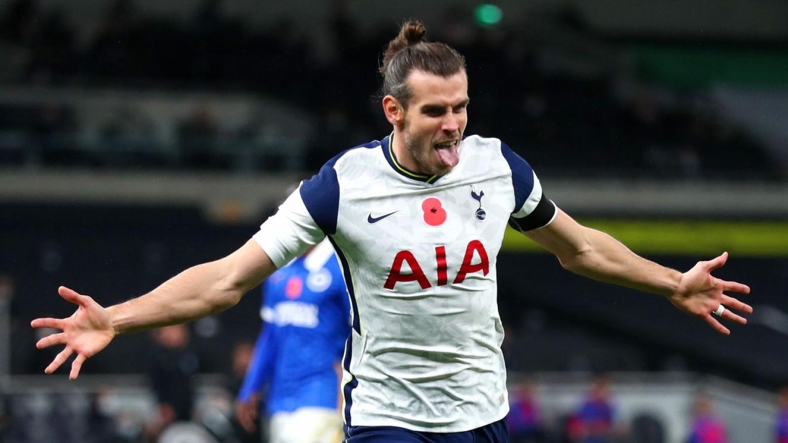 Gareth Bale ghi bàn, Tottenham vươn lên đứng nhì Premier League