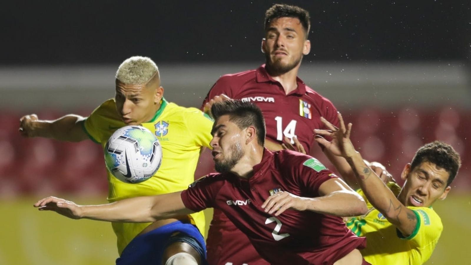 Firmino tỏa sáng, Brazil giành chiến thắng nghẹt thở trước Venezuela