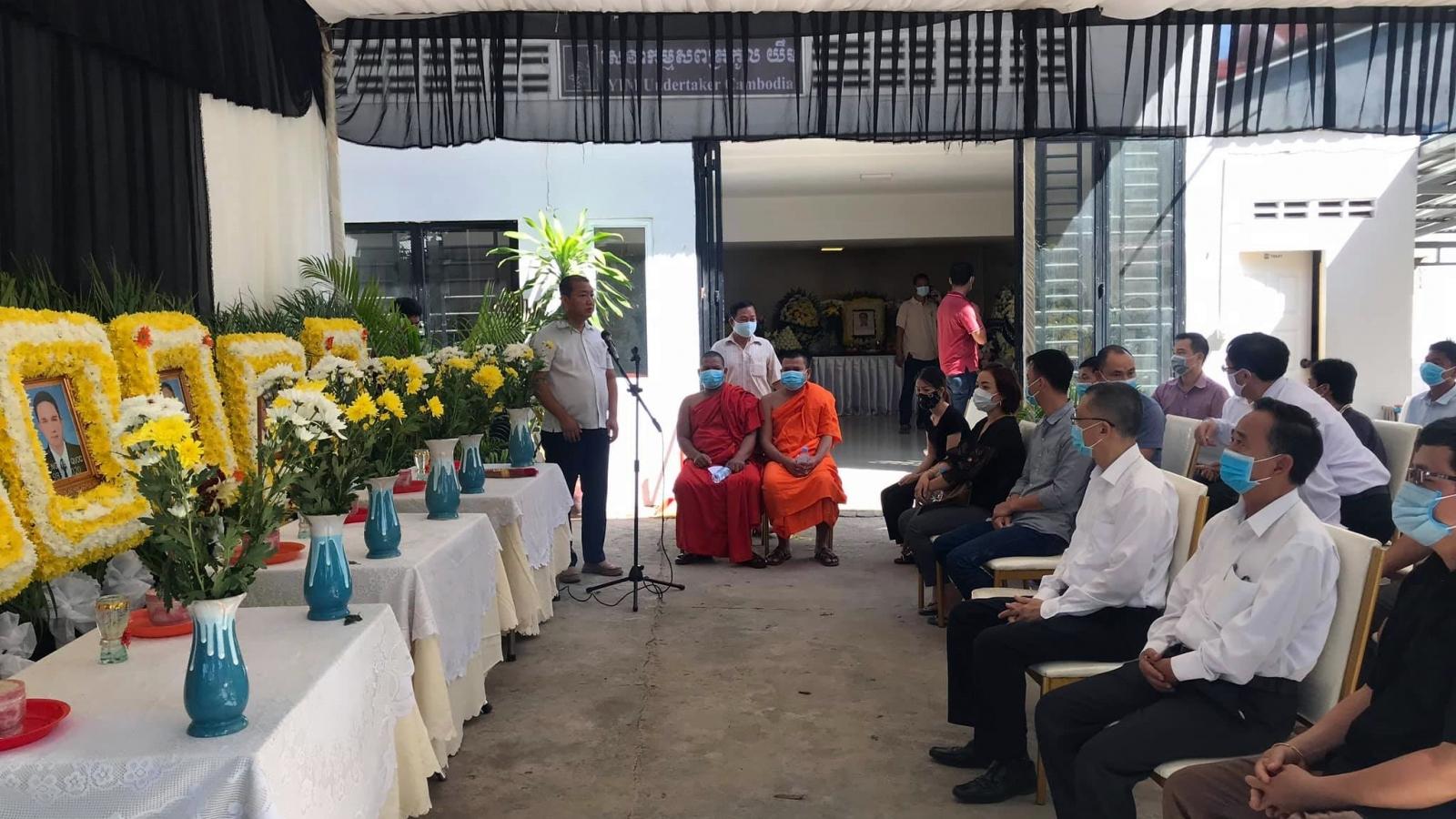 Tổ chức lễ tưởng niệm các nạn nhân vụ tai nạn ở Campuchia