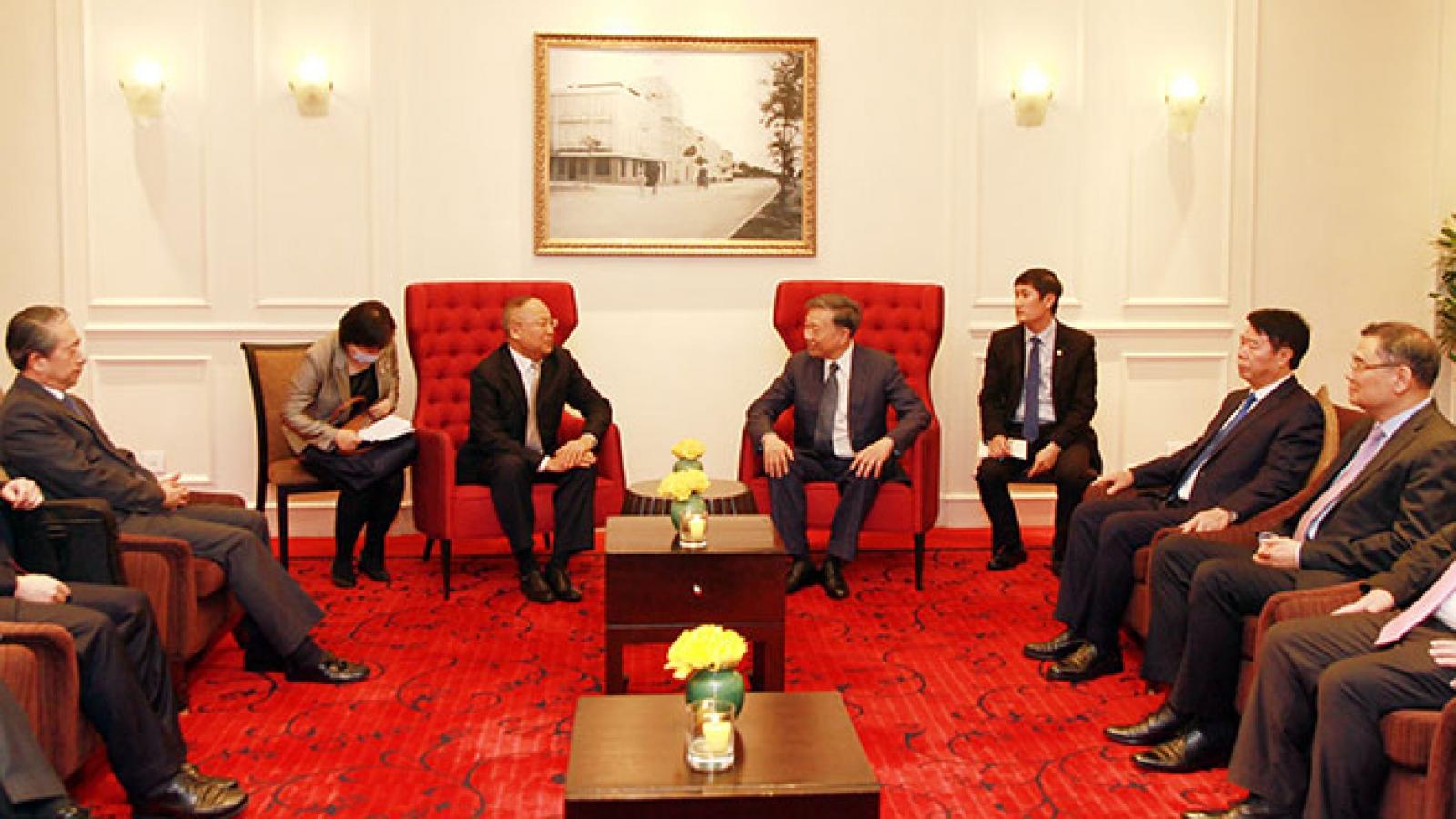 Bộ trưởng Công an Tô Lâm tiếp Thứ trưởng Bộ An ninh Quốc gia Trung Quốc