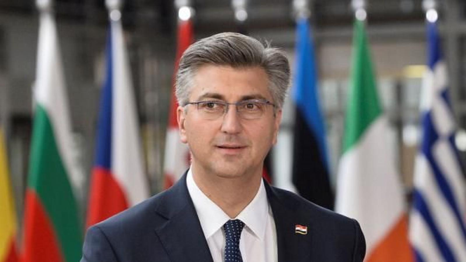 Thủ tướng Croatia phải cách ly tại nhà