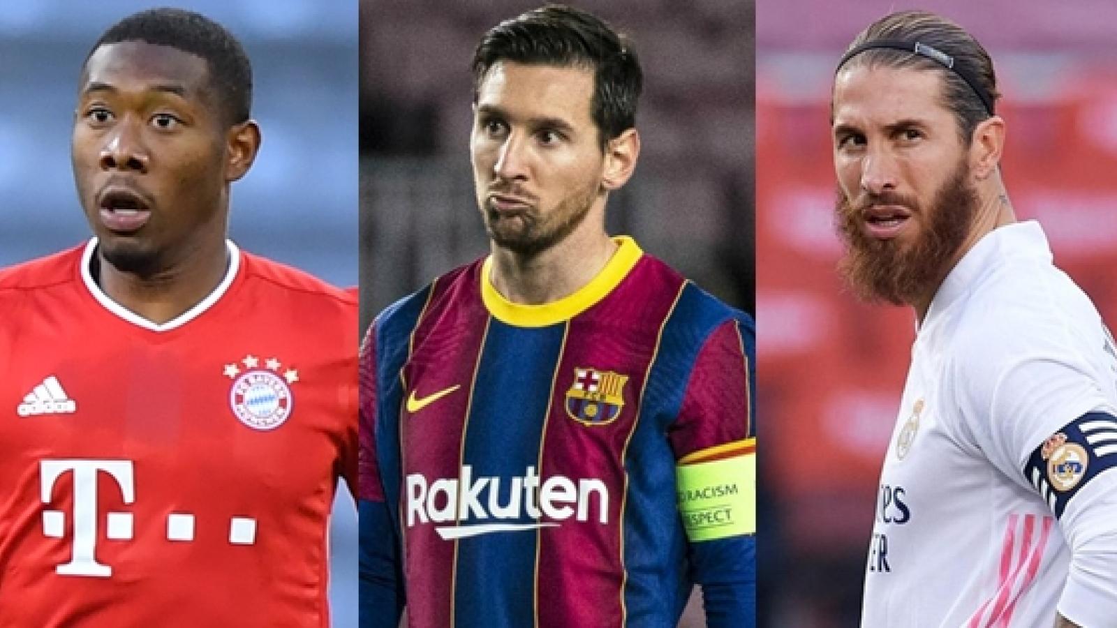 Top 10 ngôi sao sẽ trở thành cầu thủ tự do vào mùa hè 2021