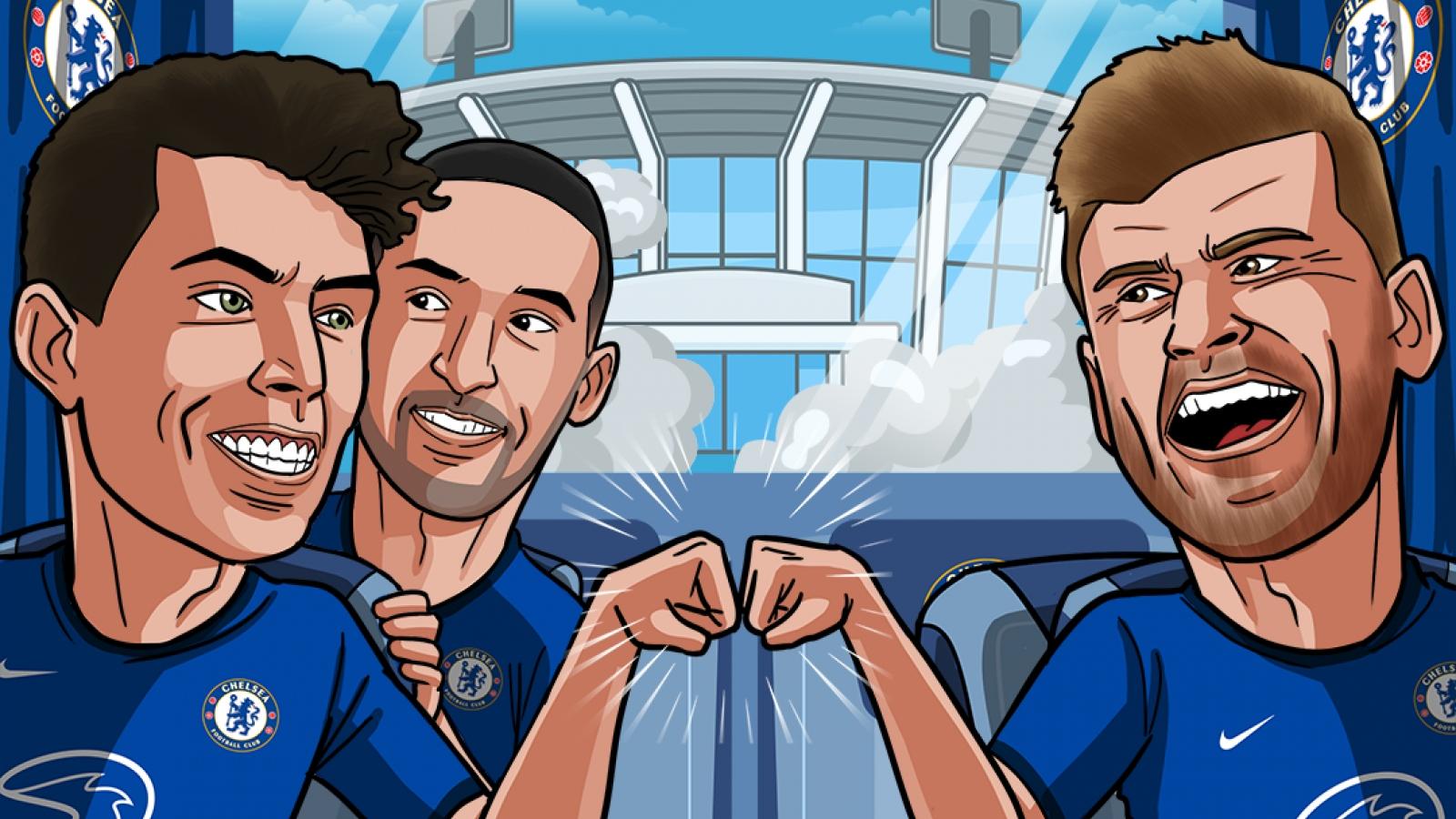 "Biếm họa 24h: Chelsea ""nhuộm xanh"" Champions League"